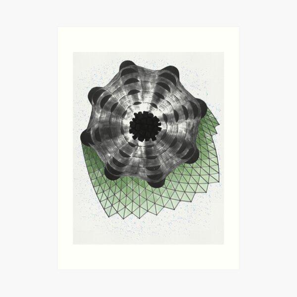 Green Structure Art Print