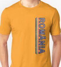 Romanian Language Distressed Jersey Style Unisex T-Shirt