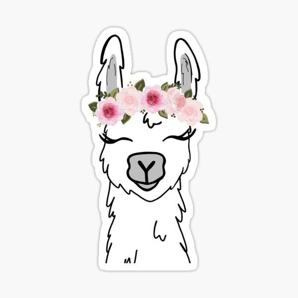 Llama floral de la corona Pegatina