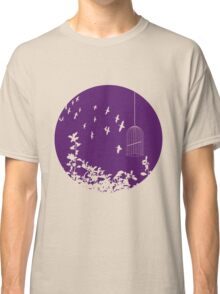 Flying Free 2 Purple Large Classic T-Shirt