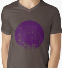 Flying Free 2 Purple Large Mens V-Neck T-Shirt