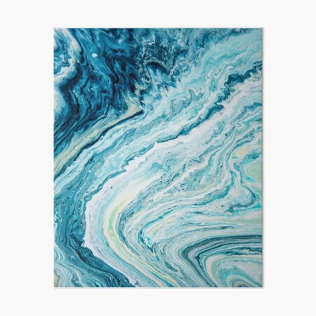 Color Spill Beach Topography 2 Art Board Print