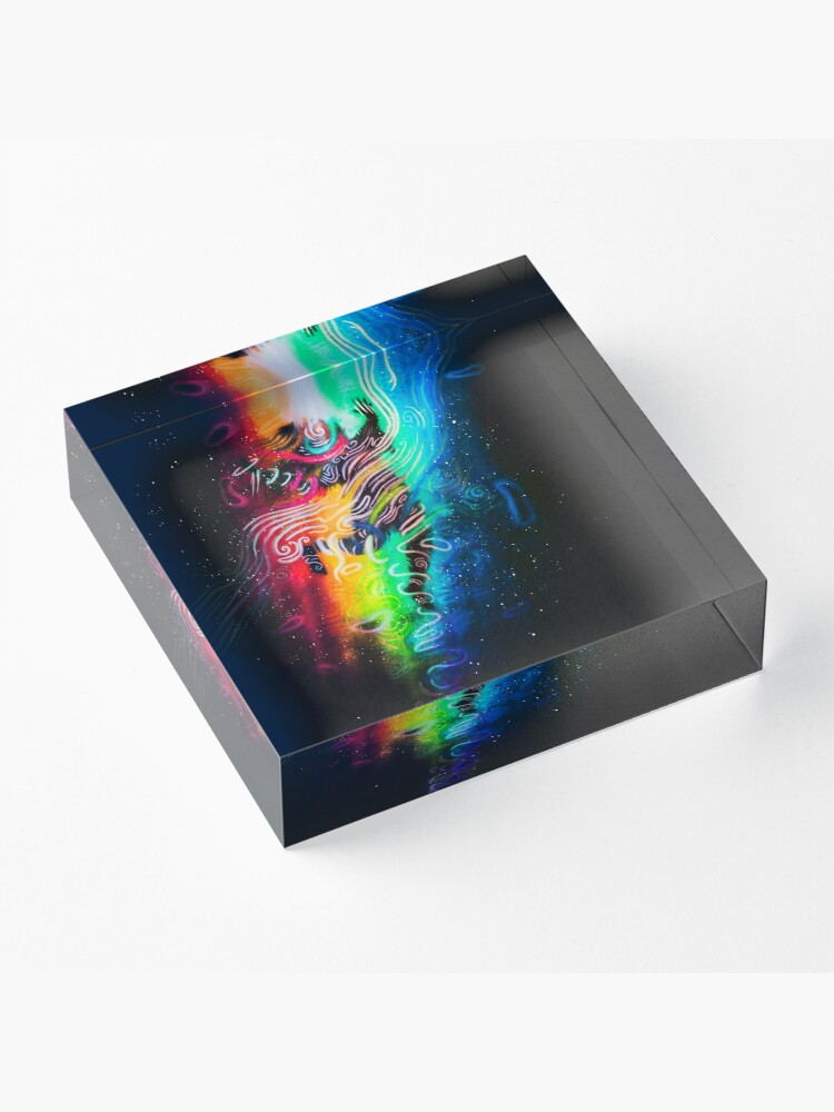 Alternate view of The Formation of Your Beautiful Soul Acrylic Block