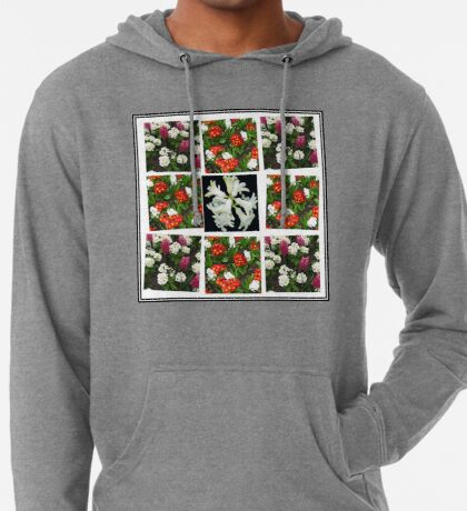 Hyacinths and Primroses Spring Collage Leichter Hoodie