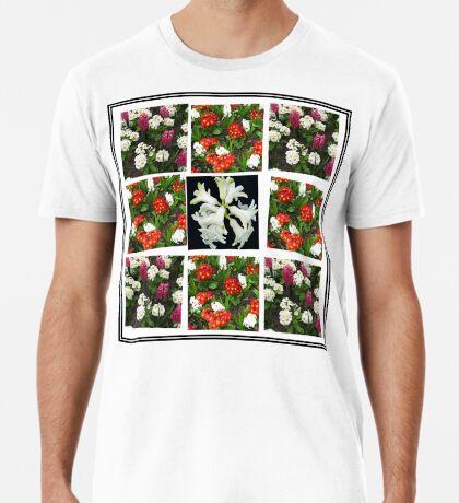 Hyacinths and Primroses Spring Collage Premium T-Shirt