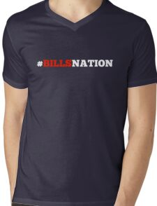 #BillsNation Mens V-Neck T-Shirt