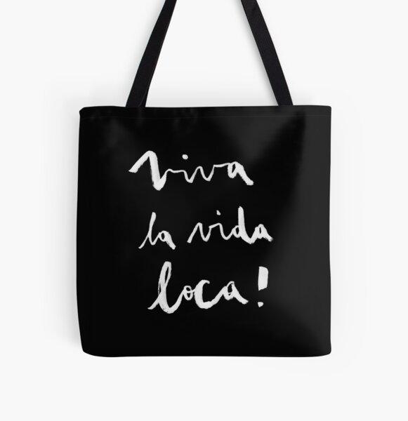 Viva la vida loca! black version All Over Print Tote Bag