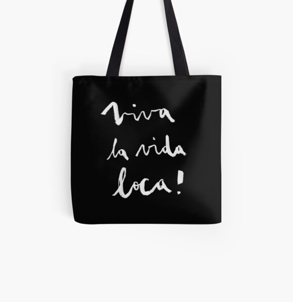 Viva la vida loca! black version All Over Print Tote Bag