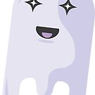 Spoopy Purple Ghost by mcmorelli