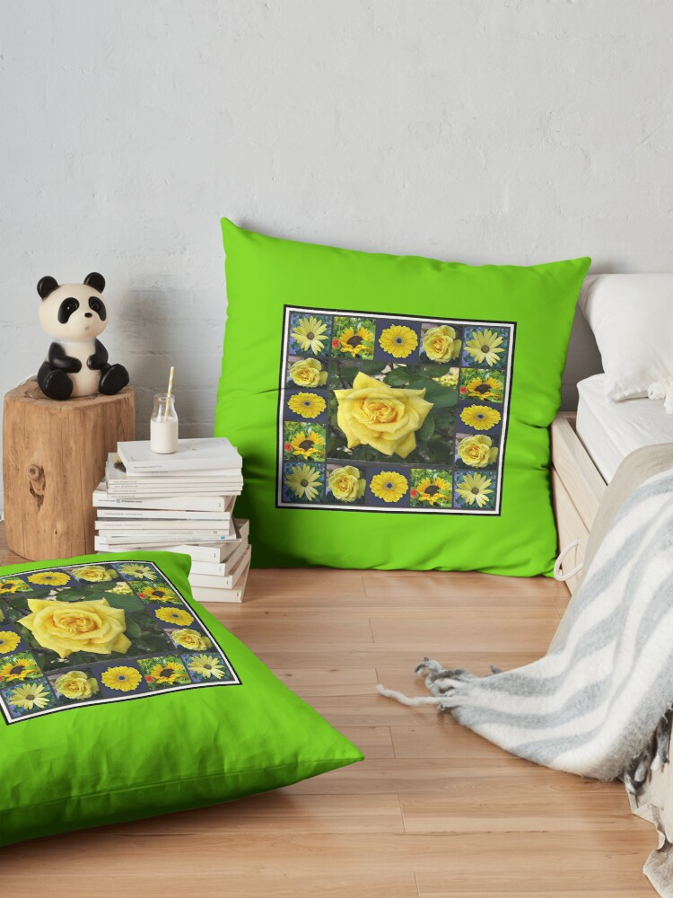Alternative Ansicht von Goldene Schönheiten Collage Bodenkissen