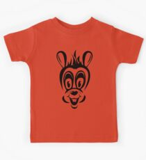 Funny cartoon rabbit silhouette Kids Tee