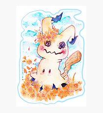Mimikyu watercolour shirt/ sticker Photographic Print