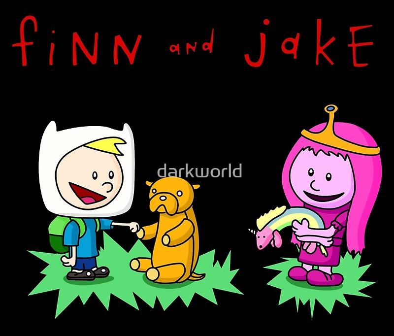 Tazas de viaje «Finn And Jake Calvin Hobbes» de darkworld | Redbubble