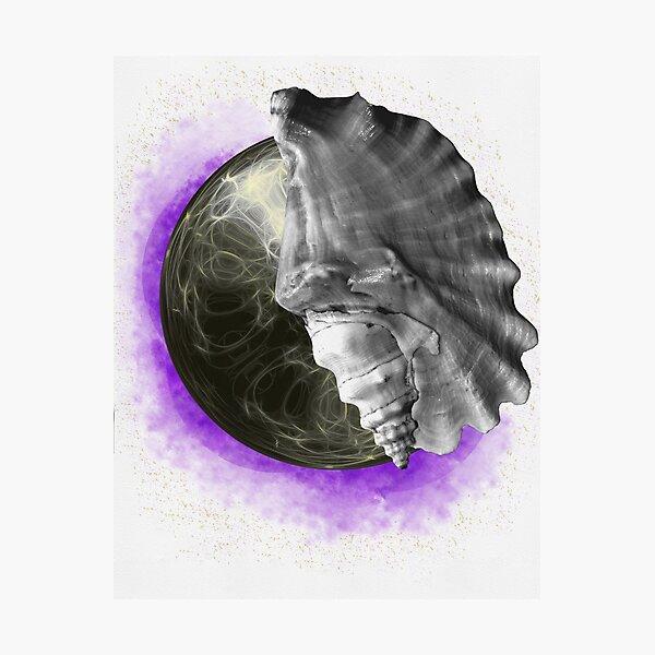 Purple Space Photographic Print