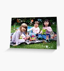 A picnic with the fairies Greeting Card