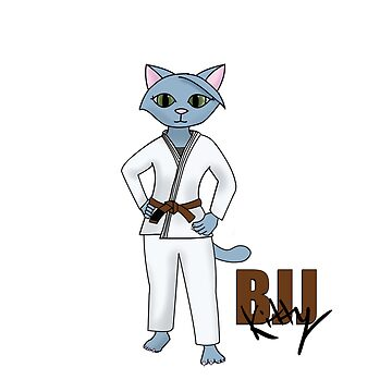 BJJ Kitty Brown Belt by Mount-Cynthus