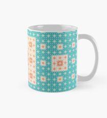 sierpinski squares in squares - red & green Mug