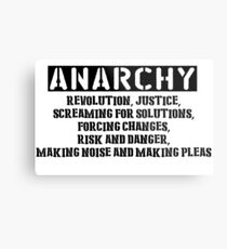 Rent - Anarchy Metal Print