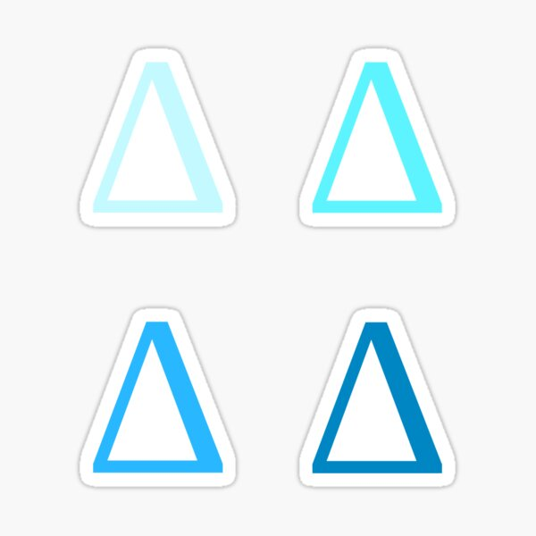 DELTA / 4 PACK / BLUES Sticker