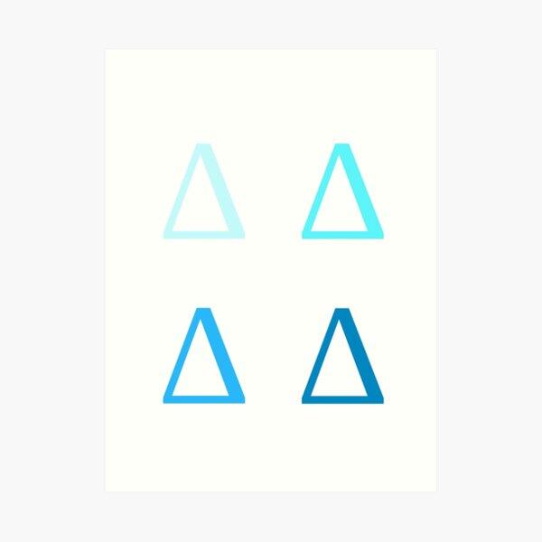 DELTA / 4 PACK / BLUES Art Print