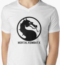 Mortal Kombat X LOGO Men's V-Neck T-Shirt