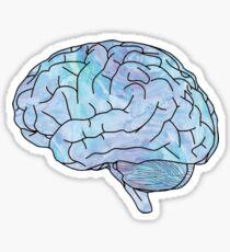 watercolor brain Sticker