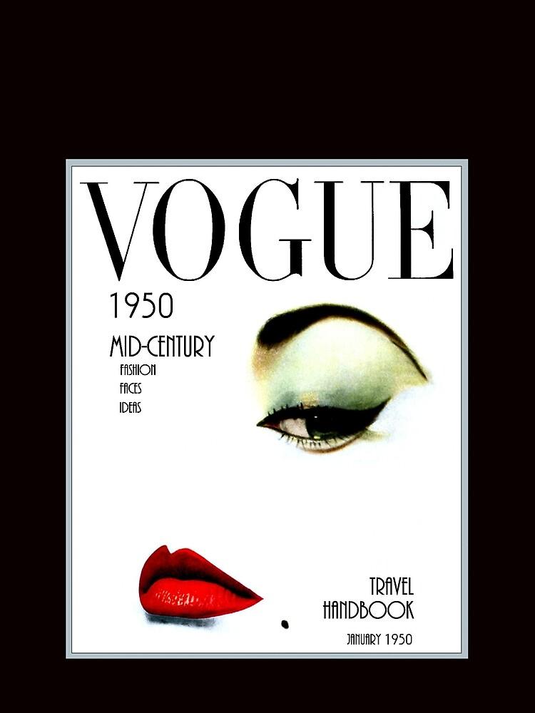 VOGUE: Vintage 1950 Beauty und Makeup Advertising Print von posterbobs