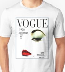 Camiseta ajustada VOGUE: Vintage 1950 Beauty and Makeup Advertising Print