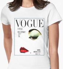VOGUE: Vintage 1950 Beauty und Makeup Advertising Print Tailliertes T-Shirt