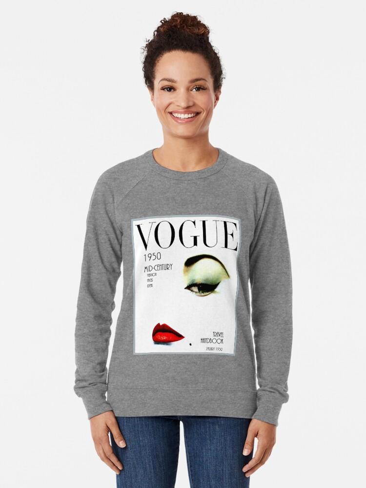 Alternative Ansicht von VOGUE: Vintage 1950 Beauty und Makeup Advertising Print Leichter Pullover