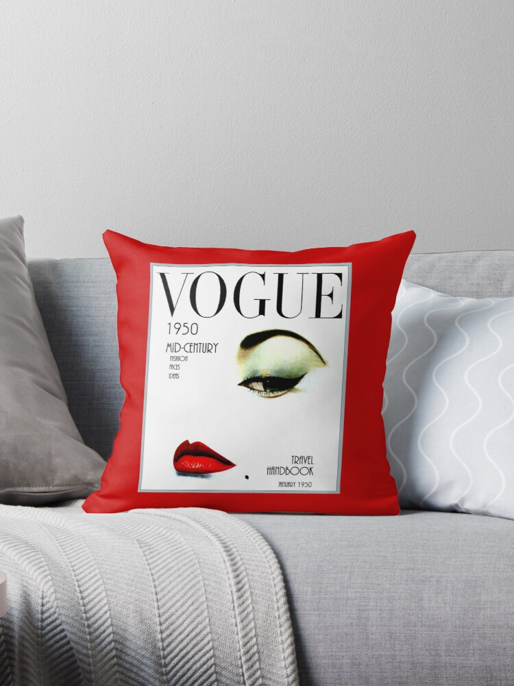 Brilliant Vogue Vintage 1950 Beauty And Makeup Advertising Print Throw Pillow By Posterbobs Forskolin Free Trial Chair Design Images Forskolin Free Trialorg