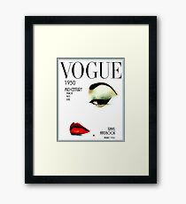 VOGUE: Vintage 1950 Beauty und Makeup Advertising Print Gerahmter Kunstdruck