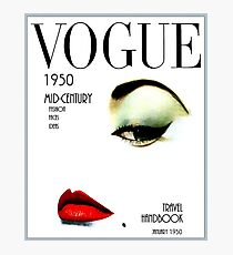 VOGUE: Vintage 1950 Beauty und Makeup Advertising Print Fotodruck