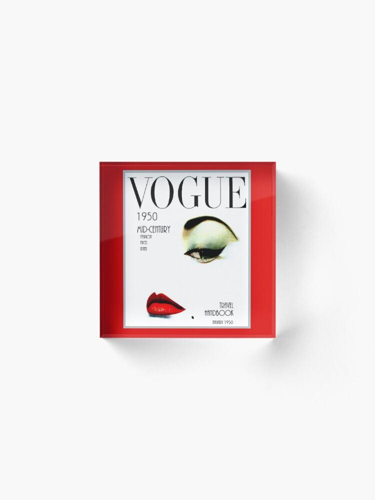 Alternative Ansicht von VOGUE: Vintage 1950 Beauty und Makeup Advertising Print Acrylblock