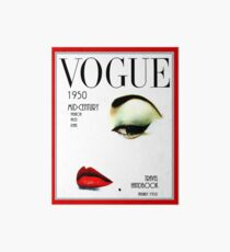 VOGUE : Vintage 1950 Beauty and Makeup Advertising Print Art Board