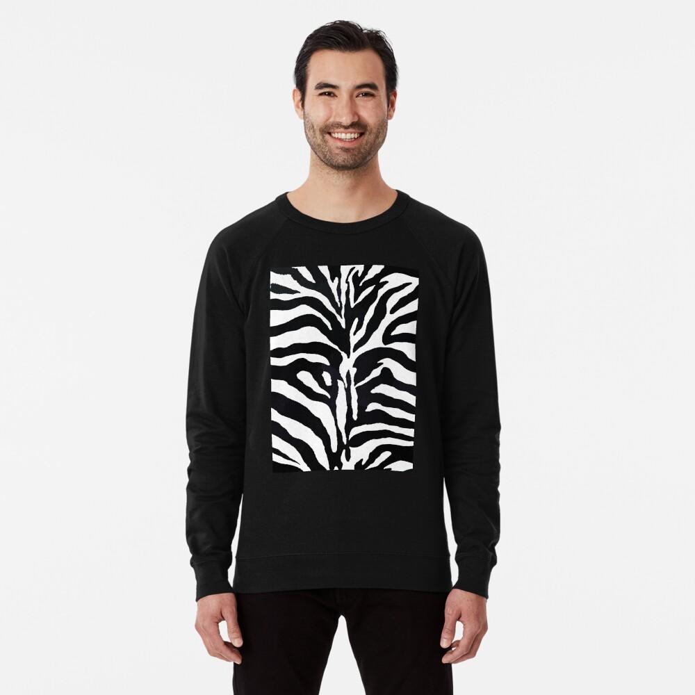Zebra-Druck Leichter Pullover