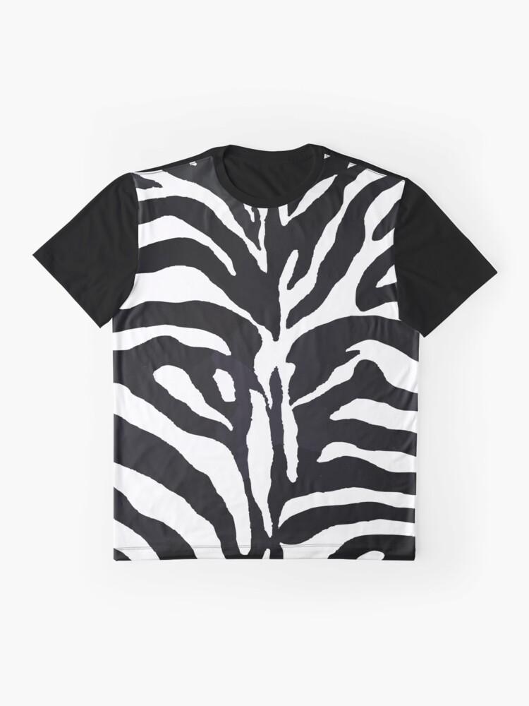 Alternative Ansicht von Zebra-Druck Grafik T-Shirt