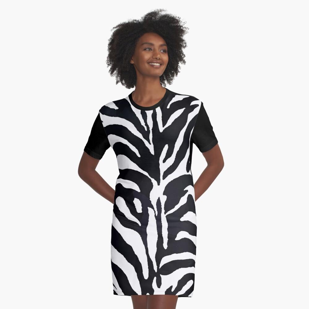 Zebra-Druck T-Shirt Kleid