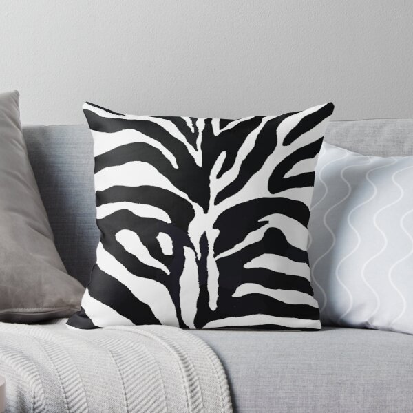 Zebra Print Throw Pillow