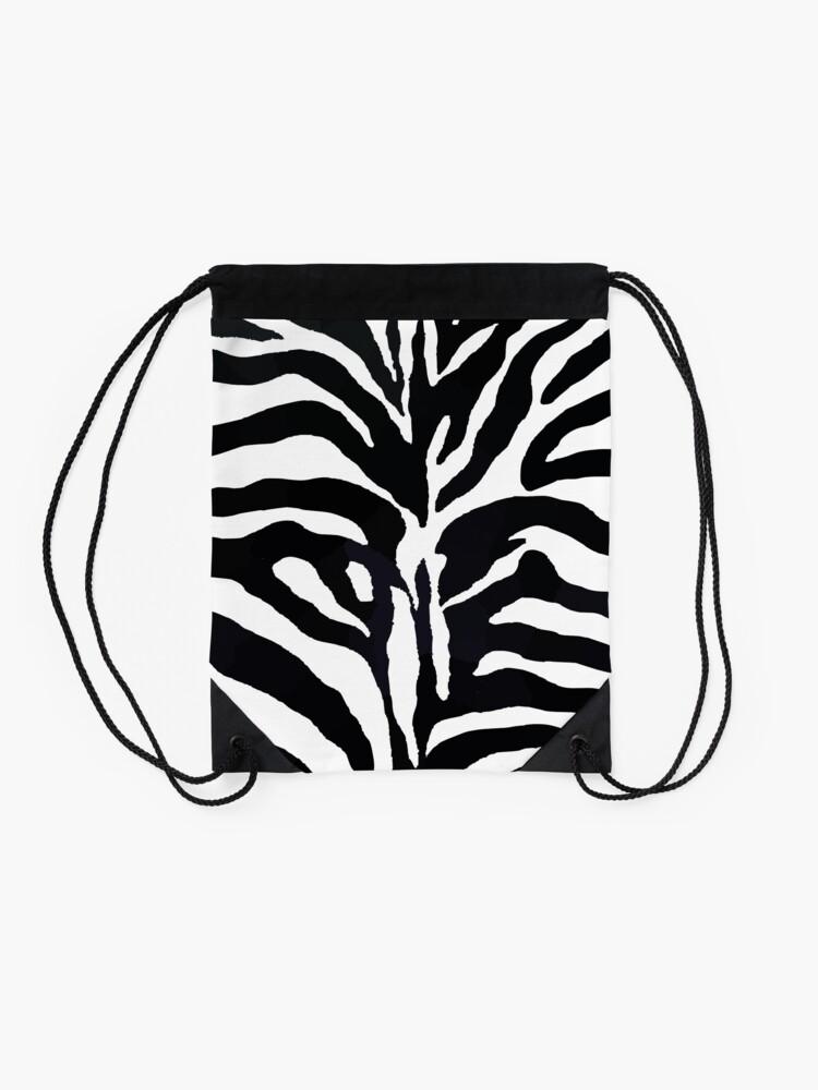 Alternative Ansicht von Zebra-Druck Turnbeutel