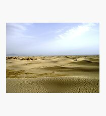 Sandy waves Photographic Print