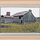 """""""Nostalgic Old Barn, the Back Side"""" ...with a matted and framed presentation, for prints and products  by © Bob Hall"""