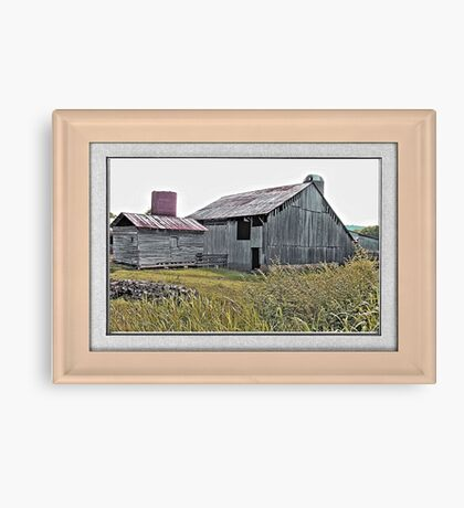 """Nostalgic Old Barn, the Back Side"" ...with a matted and framed presentation, for prints and products  Canvas Print"