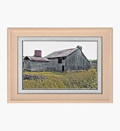 """""""Nostalgic Old Barn, the Back Side"""" ...with a matted and framed presentation, for prints and products  Photographic Print"""
