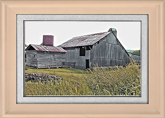 """Nostalgic Old Barn, the Back Side"" ...with a matted and framed presentation, for prints and products  by © Bob Hall"