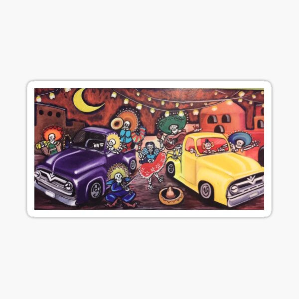 DAY OF THE DEAD FORD TRUCKS Sticker