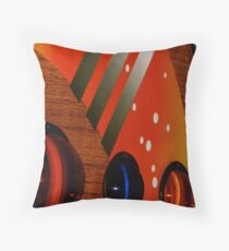 Disco-Teak Throw Pillow