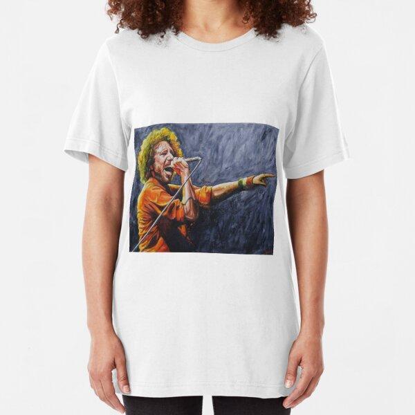 Zac De La Rocha - Rage against the machine Slim Fit T-Shirt