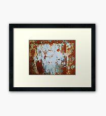 Rust 9 Framed Print