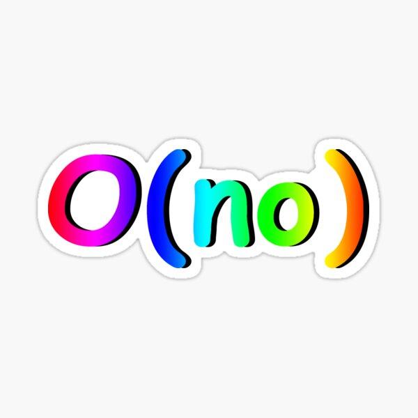 O(no) Big O Sticker